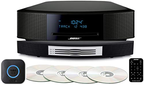 (Bose Wave Music System IV Bundle with Bose Wave Multi-CD Changer with Streaming, Espresso Black or Platinum Silver, Compatible with Alexa)