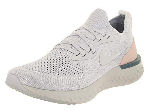 Nike Women's Epic React Flyknit Running Shoes (7.5, Grey/Blue)