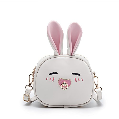 Happy Easter Gift - Pinky Family Super Cute Girls Purse Bunny Ear Shoulder Bag Messenger Bag Backpack for Girls (Pattern 2 Beige)