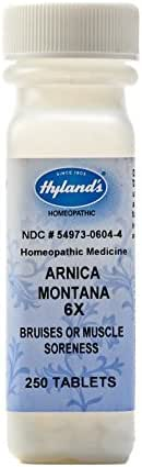 Arnica Tablets, Arnica Montana 6x by Hyland's, Natural Homeopathic Relief of Bruises and Muscle Soreness, 250 Count
