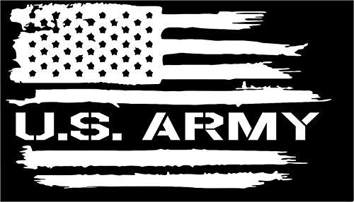 American Flag US Army Soldier USA Military Vinyl die Cut Sticker Decal (3