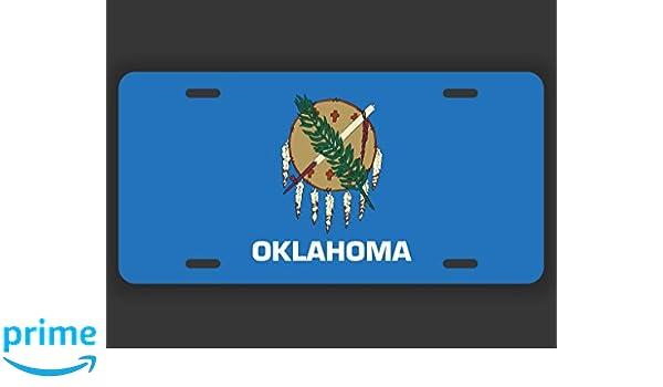 Oklahoma State Flag License Plate Novelty Auto Car Tag Vanity Gift OK