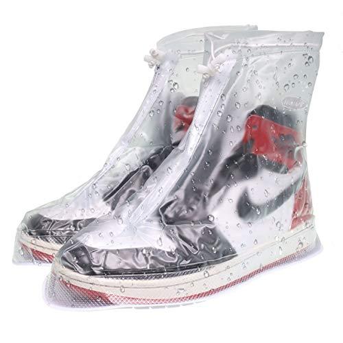 VXAR Rain Shoe Covers Snow Boots Waterproof Overshoes Women Men Transparent1 M