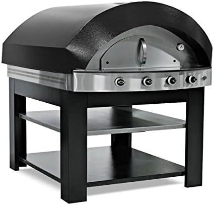 Horno de pizza de gas, color negro, con base: Amazon.es: Grandes electrodomésticos