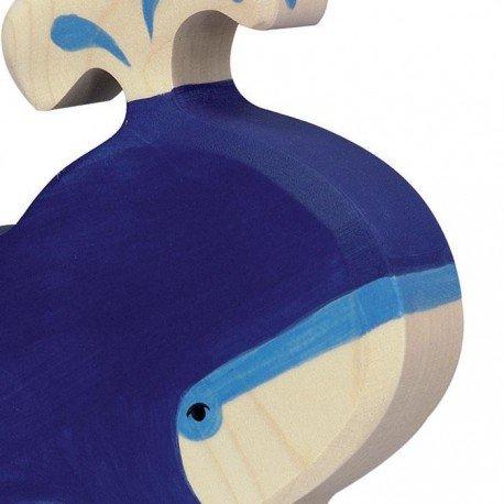 Holztiger Holztiger - Bleue Animal Baleine Bleue - Jouet en bois d'érable Écologique Fabriquer Main Europe Holztiger 7714f0