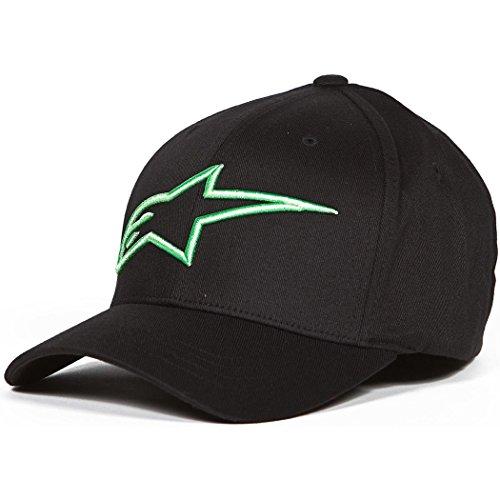 ALPINESTARS Men's Logoastar Hat, Black/Monster Green, Large/X-Large