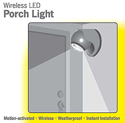 LIGHT IT! by Fulcrum 20035-101 6 LED Wireless Motion Sensor Weatherproof Porch Light, 2 Pack, Silver by LIGHT IT! by Fulcrum (Image #4)
