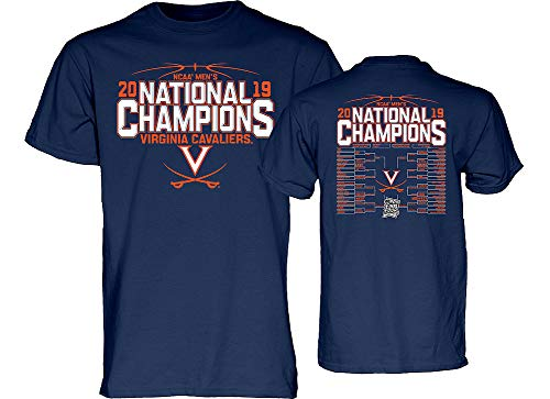 Elite Fan Shop UVA Virginia Cavaliers National Basketball Champions Tshirt 2019 Back Navy - - Mens Virginia Basketball Cavaliers