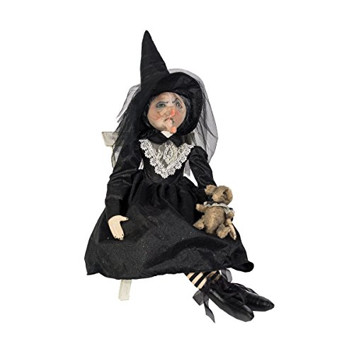 Elenora Witch With Rat Doll Joe Spencer Halloween Gathered Traditions -