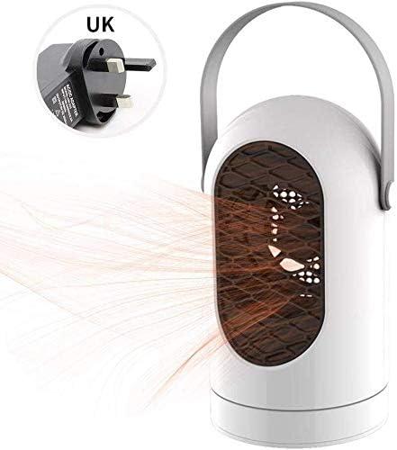 ZHWEI ファンヒーター、自動振動、とハンドヘルドスペースヒーター、ホーム用スーパー静かなヒーター ポータブル (Color : White)