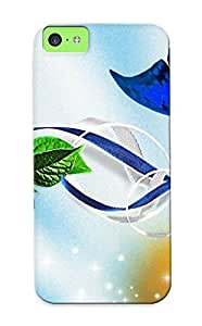 Extragrate Cute Tpu InysvKc3687RauJU Blue Butterfly, Cosmos And Ribbons Case Cover Design For Iphone 5c