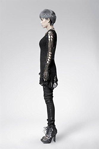 DEVIL SHACKLES Da donna Fori punk Gotico lungo e sottile Maglione girocollo Maglione girocollo a maniche lunghe
