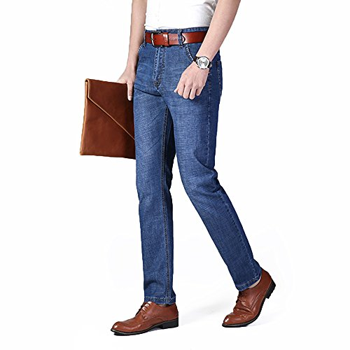 XYJD Men's Straight Barrel Jean for Business and Leisure in Summer by XYJD (Image #1)