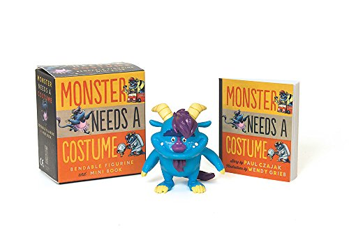 Monster Needs a Costume Bendable Figurine and Mini Book (Miniature - Costumes Premier Halloween