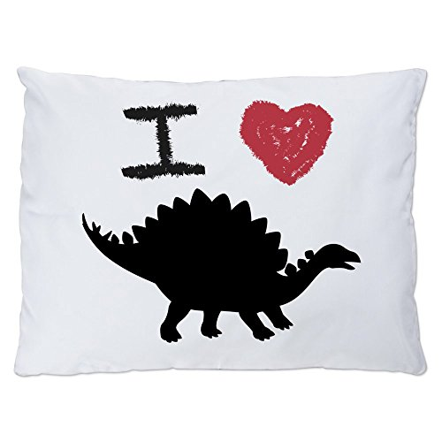 (Indoor Luxury Plush Dog Bed I Love Dinosaurs - Stegosaurus)