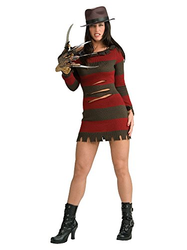 (Secret Wishes Miss Krueger Costume, Red, L)
