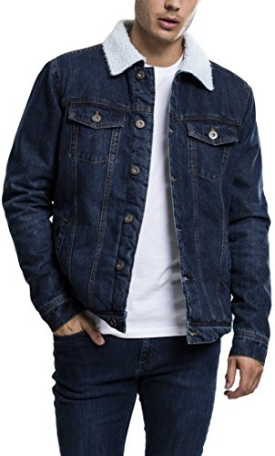 Blau Uomo Classics Giacca Jacket Sherpa 800 darkblue Denim Urban xXTBqYcwgX