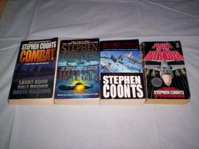 Stephen Coonts - (Set of 4) - Not a Box Set (Combat - Deep Black : Artic Gold - Flight of the Intruder - On Glorious Wings)