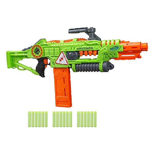 41f5NNz%2BeUL - NERF Revoltinator Zombie Strike Toy Blaster with Motorized Lights Sounds & 18 Official Darts for Kids, Teens, & Adults