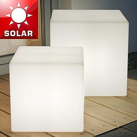 Lampade Da Esterno Plastica.Mia Light Cubo Solare Luce Led Modern Bianco Plastica Lampada