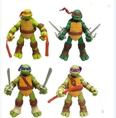 ZG&HY NEWEST! 4PCS Lot TMNT Teenage Mutant Ninja Turtles Action Figures Anime Movie Xmas Gift, Without Original Packing