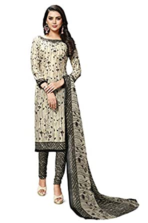 Hanoba Women's Leon Printed Unstitched Dress Material