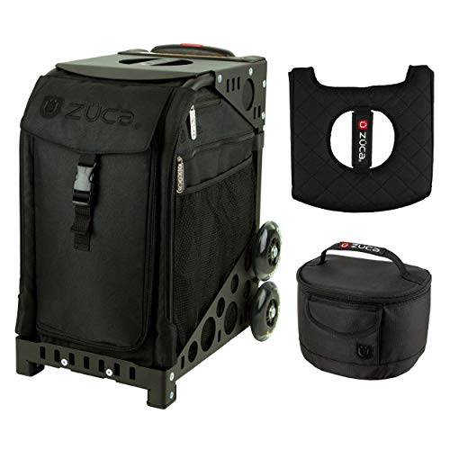 (Zuca Sport Bag - Stealth with Gift Lunchbox and Seat Cover (Black Frame))