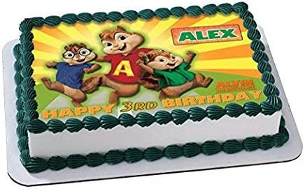 Terrific Amazon Com Alvin And The Chipmunks Edible Cake Topper Funny Birthday Cards Online Sheoxdamsfinfo