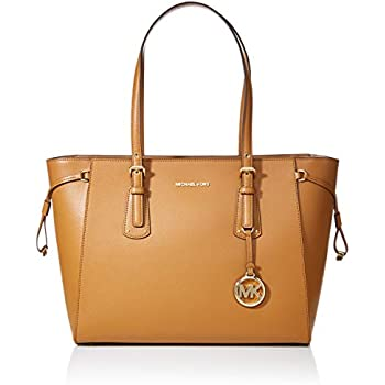 6153be688cb99a Amazon.com: MICHAEL Michael Kors Voyager Medium Leather Tote (Acorn ...