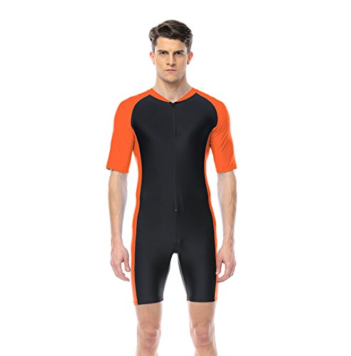 One Piece Swimsuit for Men Orange by BELLOO