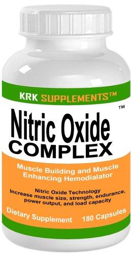 Complexe d'oxyde nitrique NO2 180 Capsules Créatine Ethyl Ester L-Taurine L-Arginine SUPPLEMENTS KRK