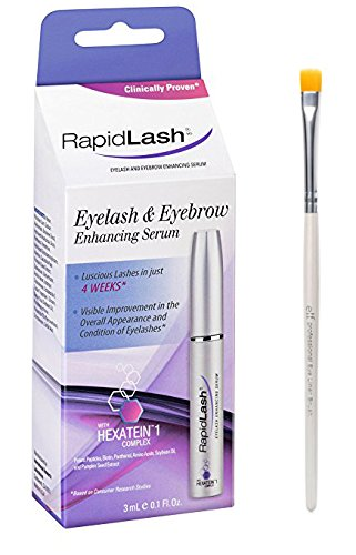 Rapidlash Eyelash and Eyebrow Serum 3ml /0.1 Fl Oz With FREE Eyeliner Brush