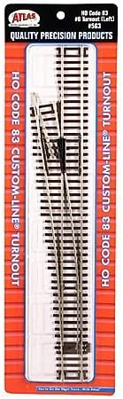 Atlas HO Scale Code 83 Custom-Line #6 Turnout Manual Right