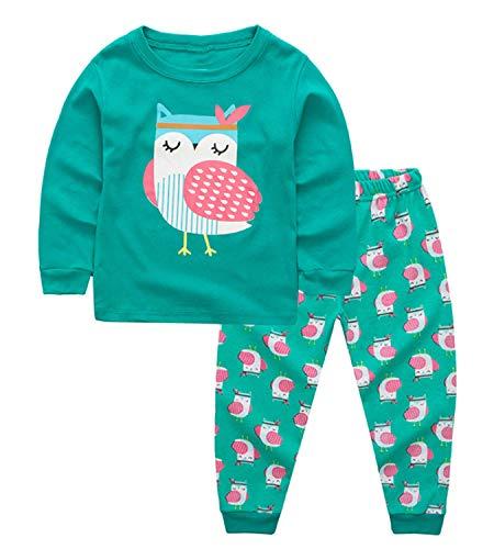 lymanchi Little Girls Christmas Cotton Pajamas Toddler Kids Owl Long Sleeve PJS Set 2-7T 909723 2T