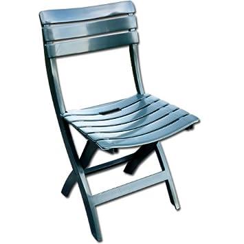 Set 4 sedie pieghevoli da esterno in plastica antiurto confezione 4 ...