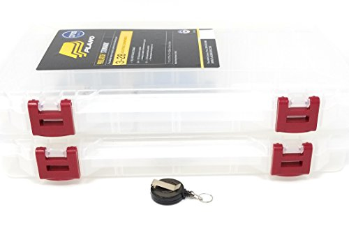 Large Stowaway Tackle or Craft Organizer in a 2-Pack Storage Box with a Retractable Tool Holder