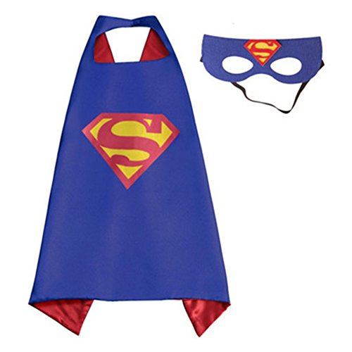 Capes For Superman Adults (DC Comics Adult Size - Superman Logo Cape and Mask with Gift Box by)