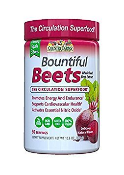 Country Farms Bountiful Beets Circulation Superfood, Delicious Natural Flavor, 10.6 oz (Pack of 2)
