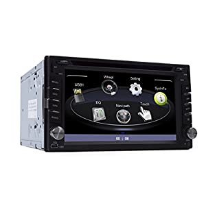 "Autvivid 2 Din 6.2"" In Dash Car Stereo DVD Windows CE GPS Navigation iPod Analog TV AM/FM Radio HD Touchscreen Audio with Rear Camera Bluetooth Free Map Card"