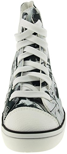 Maxstar  N7H-Zip,  Damen Hohe Hausschuhe Printed-Black