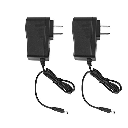 SmoTecQ CCTV 12V Switching Power Supply Adapter 2 Pack, 100-240V AC to 12V DC 1Amp (1000mA) Charger Cord For Security Dome/Bullet Camera and Many Other Common Electronic Components Wall Plug