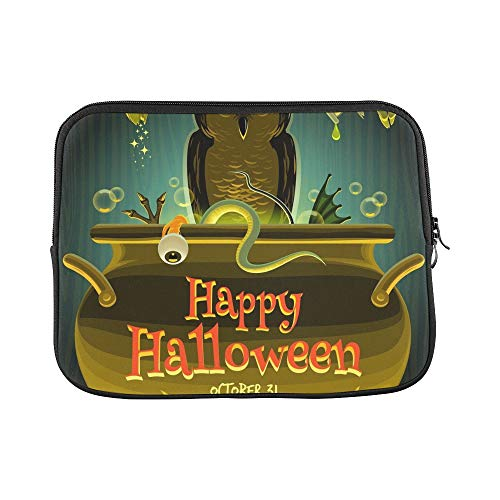Design Custom Halloween Witch Cooks Poison Sleeve Soft Laptop Case Bag Pouch Skin for MacBook Air 11