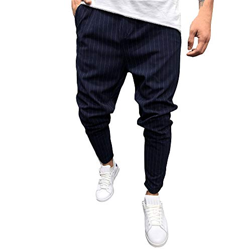 WOCACHI Men's Casual Solid Loose Stripe Pocket Sweatpant Trousers Jogger Pants 2019 Spring July 4th Under 10 Up to 30% Deals 28 29 30 31 32 33 34 35