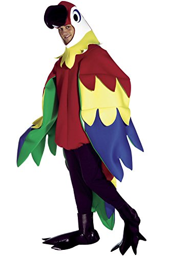 [Deluxe Parrot Costume - One Size - Chest Size 42-48] (Parrot Costume Wings)