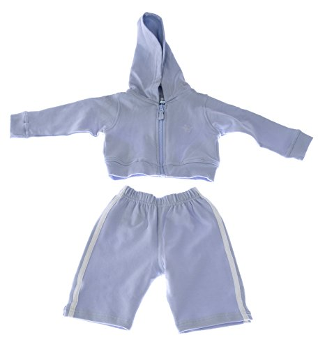 MARIE CHANTAL Baby Boy's Hello Cotton Blend Sweatsuit Sz Medium Blue (Marie Baby Chantal)