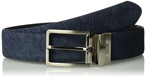 Van Heusen Men's Suede Embossed Reversible Belt, Navy, (Reversible Suede Belt)