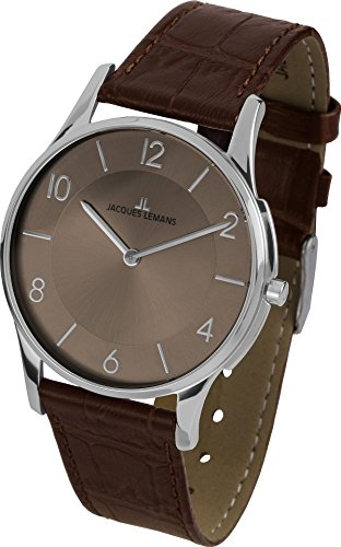 Jacques Lemans London 1-1778W - Women's Watch, Watch Band Leather Brown Tone