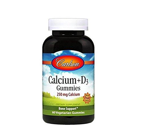 Carlson Labs Calcium+d3 Gummies, 60 Count