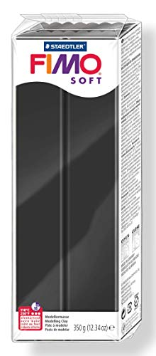 Black Fimo - Staedtler 8022-9 06 Fimo Soft Oven-Bake Clay 12.34oz-Black