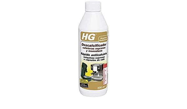HG 323050109 - Descalcificador Cafeteras Espresso (envase de 0,5 L): Amazon.es: Salud y cuidado personal